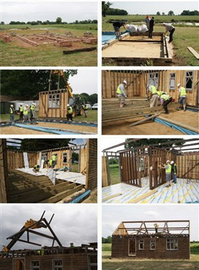 Photo:Re-building of the Fen Cottage from Darlow's Farm