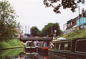 Photo:Moorings in the town centre